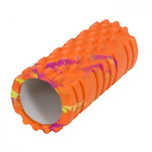 Trendrehab-foamroller-fitness-orange-liggande